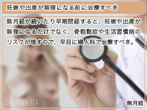 妊娠や出産が無理になる前に治療すべき