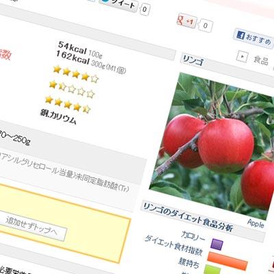 リンゴの栄養解説ページサムネイル画像