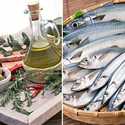植物油と青魚のイメージ