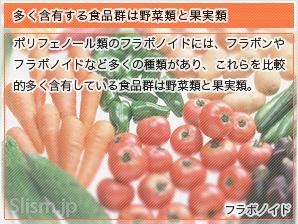 多く含有する食品群は野菜類と果実類