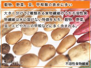 穀物、野菜、豆、甲殻類の表皮に多い