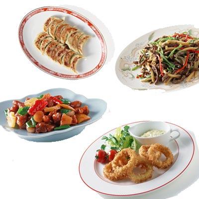 餃子と酢豚とチンジャオロースとイカリング