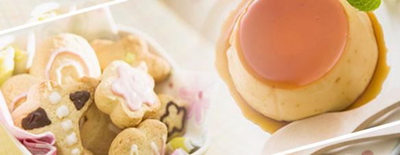 プリンとクッキー