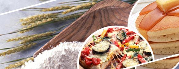 米粉ピザとパン
