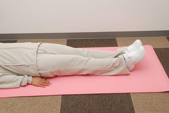 20秒腹筋-01スタート-仰向け寝た状態
