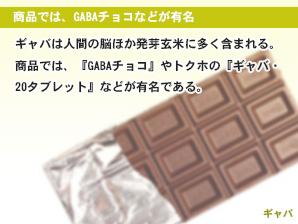 商品では、GABAチョコなどが有名