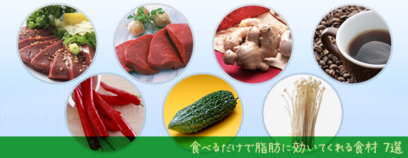 脂肪に効果ある食材7選