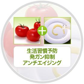 トマト+オリーブオイル