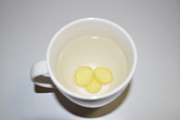 しょうがの入った白湯