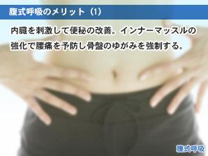 腹式呼吸のメリット(1)