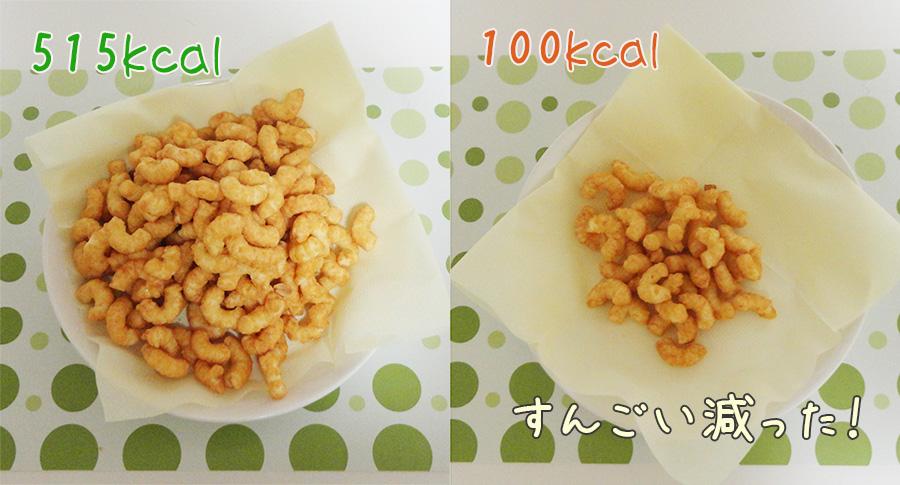 100キロカロリー分のキャラメルコーン