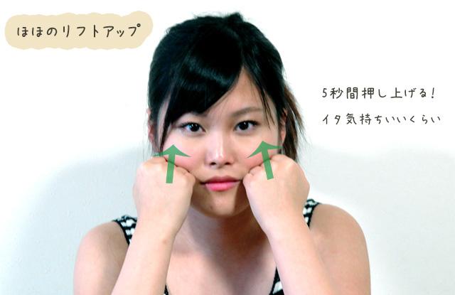 頬のリフトアップ方法