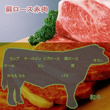 和牛肩ロース赤肉