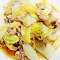 豚肉と白菜の炒め物