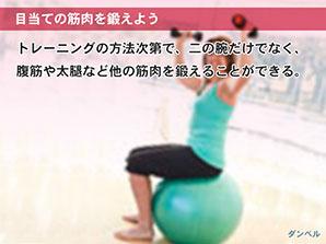 目当ての筋肉を鍛えよう