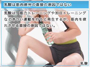 乳酸は筋肉疲労の直接の原因ではない