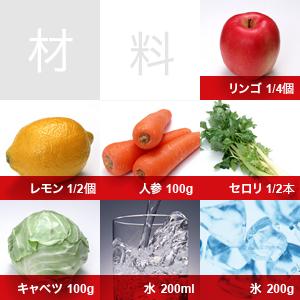 フレッシュジュースのレシピ
