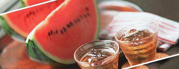 西瓜と麦茶