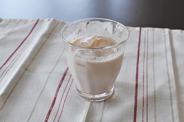 豆乳割り-ざくろ酢(ホンチョ):豆乳=1:3