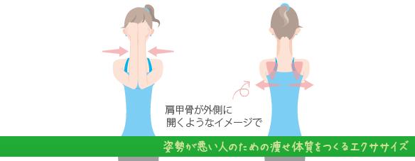 姿勢が悪い人のための痩せ体質をつくるエクササイズ