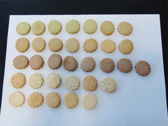 豆乳おからクッキーを並べた状態