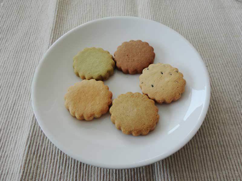 5種類の味がある豆乳おからクッキー
