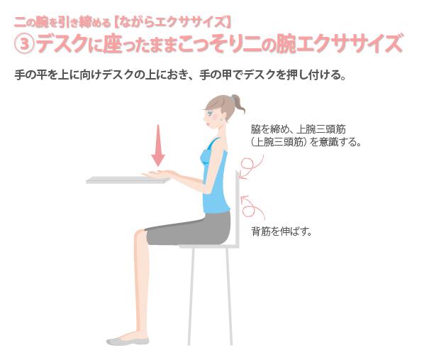 デスクに座る女性