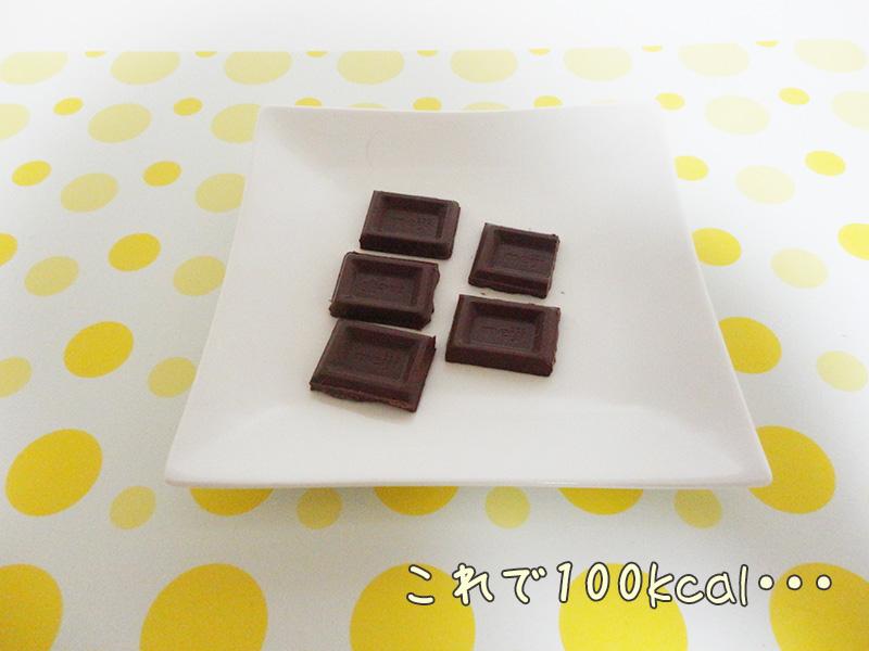 100キロカロリー分のチョコレート