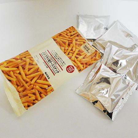 無印良品のノンフライ塩チーズスナック