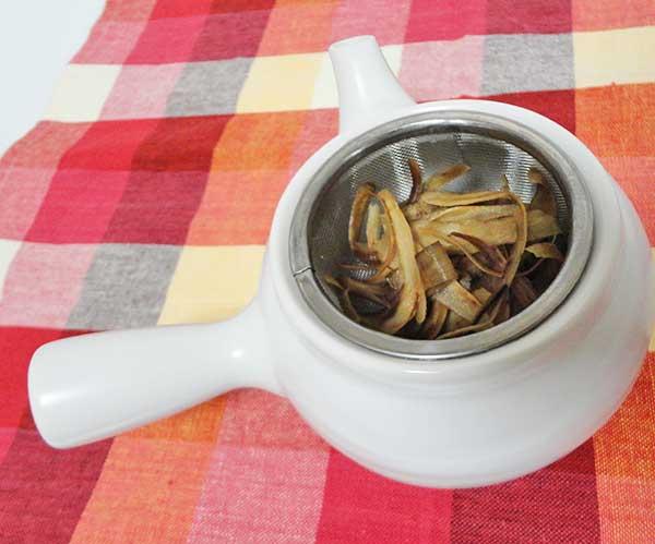 ごぼう茶の出し殻