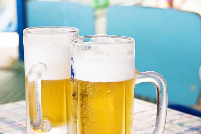 これまた夏太りの原因よく冷えたビール