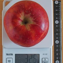 平均 さ りんご 重